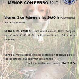 cartel del Sorteo intercomarcal de caza menor